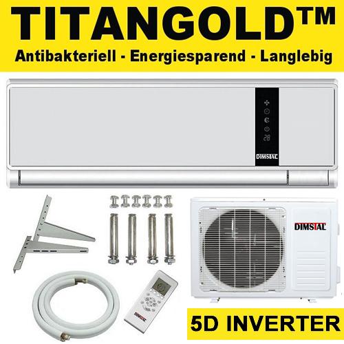antibakterielle titangold inverter split klima anlage. Black Bedroom Furniture Sets. Home Design Ideas